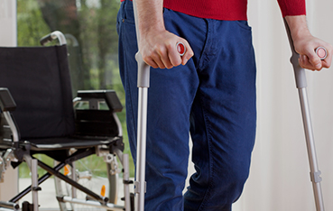 Workers Comp Lawyer Page Image - Wheelchair & crutches